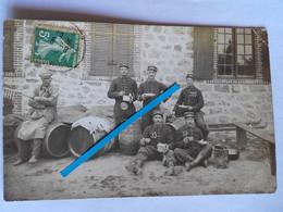 1909 La Courtine Creuse 107 Eme Régiment Infanterie Territoriale Tonnelier Marchand Vins Tranchée Poilu14-18  Photo Ww1 - Guerra, Militari