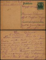 DEL051 - Entier Occupation De Givet France  à Un Prisonnier De Guerre à Zossen ( Allemagne Germany ) 1915 - Altre Lettere