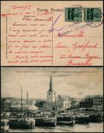 DEL053 - Carte Censurée Occupation De Givet France à Bruxelles 1915 Censure De Philippeville - Andere Brieven