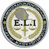 ECUSSON   PATCH . ADMINISTRATION PENITENTIAIRE  . CD LE PORT . - Escudos En Tela