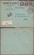 Belgique 1923 - Lettre Recommandée + AR A/timbres 196(x2) + 211 De Bruxelles à Destination Uccle.. (DD) DC-9783 - 1922-1927 Houyoux