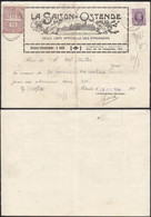"""Belgique 1924 - Reçu A/timbre Nr.: 198 + 2 Fiscaux  D' Ostende """"La Saison D'Ostende""""... ..... (DD) DC-9789 - 1922-1927 Houyoux"""