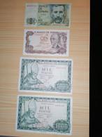Espagne / Lot De 4 Billets - [ 9] Collections