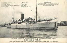 PAQUEBOT - Poste De La Société Générale Des Transports, Publicité Pour Le Procédé Falk. - Piroscafi