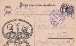 Feldpostkarte - In Treue Fest  - Kaiser Wilhelm U. Franz Joseph - Feldkanonen Regt. 5 - 1915 (53503) - Briefe U. Dokumente