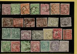 VA-3324   Telegraafstempels   Op Spoorwegzegels - 1915-1921