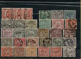 VA-3325   Telegraafstempels   Op Spoorwegzegels - 1915-1921