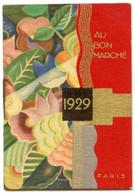 AGENDA DE POCHE 1929 AU BON MARCHE PARIS PLANTES + FLEURS - Small : 1921-40