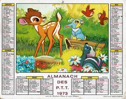 1973 - BAMBI Et MICKEY ET SES AMIS AUX J.O. - Almanachs Jean Lavigne - Big : 1971-80