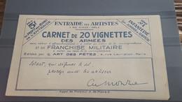 LOT525503 TIMBRE DE FRANCE NEUF** LUXE CARNET FRANCHISE MILITAIRE - Militaire Zegels (zonder Portkosten)