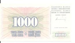 BOSNIE-HERZEGOVINE 1000 DINARA 1994 AUNC P 46 B - Bosnia And Herzegovina