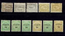 Luxembourg, Diff. Années, à Partir De 1901, à Voir Sur Scan - Vorausentwertungen