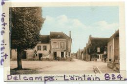 - 12 - VERON - ( Yonne ) - La Place, Les P. T. T,  Non écrite, épaisse, Belles Couleurs, TTBE, Scans. - Veron