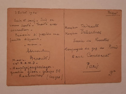 Carte Postale Ww2 Prisonnier De Guerre 44 Ramd Artillerie Mixte Divisionnaire - 1939-45