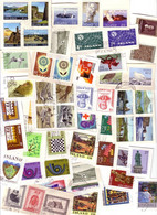 Iceland Lot On Paper 100 Stamps Many Complete Sets - Collections, Lots & Series