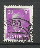 Estland Estonia 1937 O TURBA AG Michel 118 - Estland
