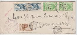 MADAGASCAR: LSC Par Avion De DIEGO SUAREZ De 1947 Pour Tananarive - Brieven En Documenten