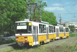 TRAM TRAMWAY RAIL RAILWAY RAILROAD * TATRA BKV KOBANYAI STREET BUDAPEST SHELL SERVICE STATION * Top Card 0350 * Hungary - Tranvía