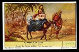 CHROMOS CHROMO LIEBIG - L'ENFANCE DE JESUS N°2 LA FUITE EN EGYPTE - Liebig