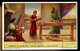CHROMOS CHROMO LIEBIG - L'ENFANCE DE JESUS N°5 JESUS ET SAINT JOSEPH - Liebig