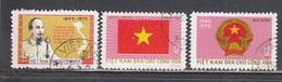 Vietnam Nord 1975 - (1) 30th Anniversary Of Democratic Vietnam, Mi-Nr. 821/23, Used - Viêt-Nam