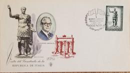A) 1961, ARGENTINA, ROMAN EMPEROR, FDC, GIOVANNI GRONCHI PRESIDENT ITALIAN - Oblitérés