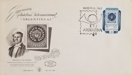 A) 1962, ARGENTINA, GENERAL ADMINISTRATOR OF POST 1862, GERVASIO A. DE POSADAS, INTERNATIONAL PHILATELIC EXHIBITION STAM - Oblitérés