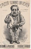 (NOËL ) Illustrateur ANCOURT , J' Pleur Comme Un Veau ! MATHIEU , Paroles DELORMEL & PERICAUD , Musique FREDERIC BARBIER - Spartiti