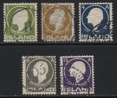 Iceland (35) 1911 Jon Sigurdsson. 5 Values. Used. Hinged. - Gebruikt