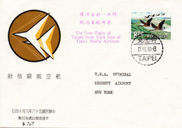 Taipei New York 1969 - First Flight TWA Boeing 707 - Erstflug 1er Vol - Republic Of China - Briefe U. Dokumente