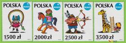 Voyo POLAND Lutczyn Illustrations 1992 Mi # 3409-3412  ** MINT MNH Set Polska'93 - Unused Stamps