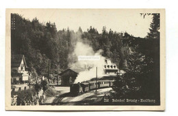 Bahnhof Brunig-Hasliberg, Railway & Steam Train - 1930 Used Switzerland Postcard - Stations With Trains