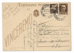 DA MILANO A P.M.156 ( RUSSIA ) - 11.2.143 - RITORNATA AL MITTENTE - BATTAGLIA DEL DON. - Marcofilie