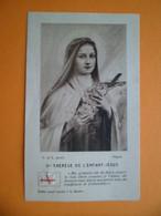 Image Pieuse Religion Catholique Sainte Thérèse De L'enfant Jesus - Etoffe Relique Reliquaire - Images Religieuses