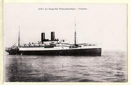 Trp049 Paquebot Transatlantique FLANDRE Bateau 1930s Edition JOUBIER Saint Nazaire Loire Atlantique Cpbat - Passagiersschepen