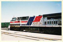 Trp197 Photo 19.05.1992 AMTRAK 512 South West Chief Gare JUNTA Locomotive Train Etats Unis USA United States Cptrain - Trains