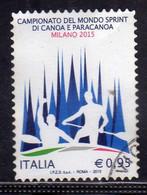 ITALIA REPUBBLICA ITALY REPUBLIC 2015 CAMPIONATO DEL MONDO DI SCI DI CANOA CANOE WORLD CHAMPIONSHIP  € 0,95 USATO USED - 2001-10: Oblitérés