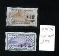 France 1923 N°166 Et 167 Neuf Sans Charnière Cote 100€ - Ungebraucht