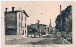 Cpa 33 St Laurent De Médoc Gendarmerie Entrée Du Bourg - Andere Gemeenten