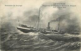 "PAQUEBOT -  ""Arménie"" De La Cie Paquet, Par Grosse Mer. - Piroscafi"