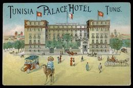 TUNISIE -TUNES  -  Tunisia Palace Hotel. ( Ed. Litho. Weber Combaz & Cª.) Carte Postale - Hoteles & Restaurantes