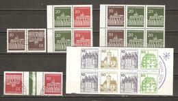 Allemagne/Berlin -  Petit Lot De Carnet, Feuilles De Carnet Et Tête-bêches - C 369/370 - TP 368a/370b - C574b - Lots & Kiloware (mixtures) - Max. 999 Stamps