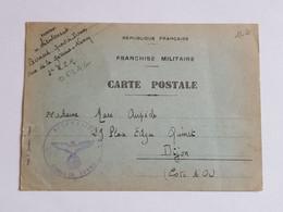 Carte De Prisonnier De Guerre Oflag Dijon 2 RSM Regiment De Spahis Marocains 1940 - 1939-45