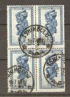Congo Belge 1952 -  Masque Et Artisanat - Bloc De 4 X 279 -  Cachet TSHIMBULU, Kasaï - 1947-60: Gebraucht