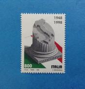 1998 ITALIA FRANCOBOLLO NUOVO ITALY STAMP NEW MNH** ANNIVERSARIO COSTITUZIONE ITALIANA - 1991-00: Mint/hinged
