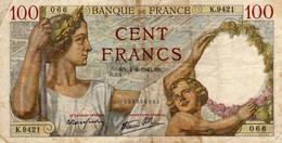 "Billet  100 Francs  ""Sully ""   CN.4=4=1940.SN.  FRANCE  K.9421 - 100 F 1939-1942 ''Sully''"