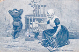 482095Johan Georg Gerstenhauer. (poststempel 1907.)(diverse Vouwen) - Andere Illustrators