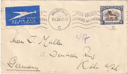 AFRIQUE DU SUD 1938 PLI AERIEN DE JOHANNESBURG POUR KÖLN - Non Classificati