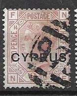Cyprus 1880 VFU 15 Euros Plate 14 - Cyprus (...-1960)