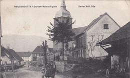 90 – ROUGEGOUTTE – Grande Rue Et Eglise (Ed. Karrer) - Other Municipalities